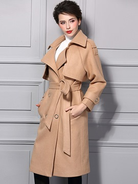 Ericdress European Elegant Lace-Up Coat