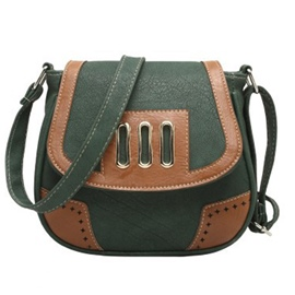 Ericdress Vintage Color Block Thread Crossbody Bag