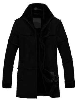Ericdress Mid-Length Thicken with Velvet Warm Vogue Men's Winter Coat