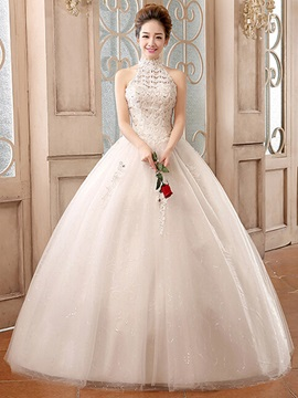 Ericdress High Quality Beaded Lace Ball Gown Wedding Dress