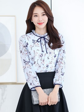 Ericdress Floral Print Sweet Blouse