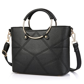 Ericdress Europeamerica Geometric Patchwork Commute Handbag