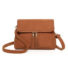 Ericdress Vintage Solid Color Tassel Messenger Shoulder Bag