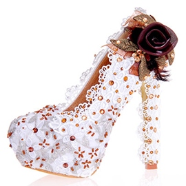 Ericdress Appliques Ultra-High Heel Platform Wedding Shoes