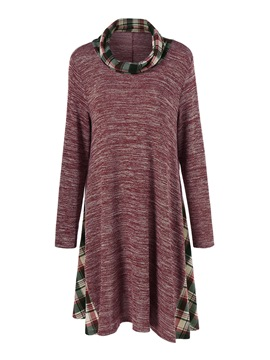 Ericdress Pleated Patchwork Mid-Length T-Shirt