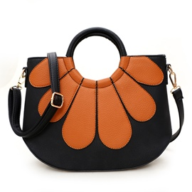 Ericdress Casual Color Block Petal Thread Handbag