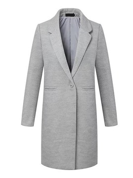 Ericdress One-Button Polo Straight Coat