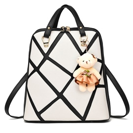 Ericdress Cool Geometric Patchwork Travel Backpack