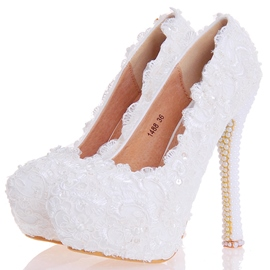 Ericdress Dreaming Beads Ultra-High Heel Wedding Shoes