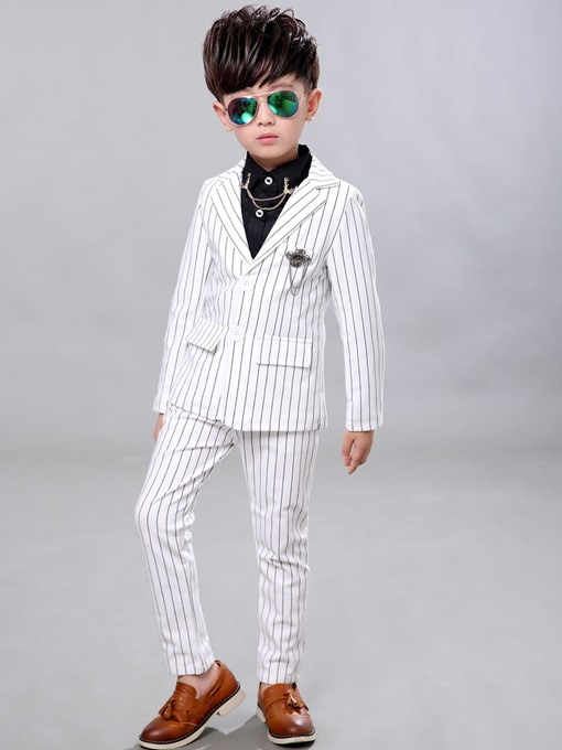 Ericdress Gentlemanly Stripe Two-Piece Boys Suit
