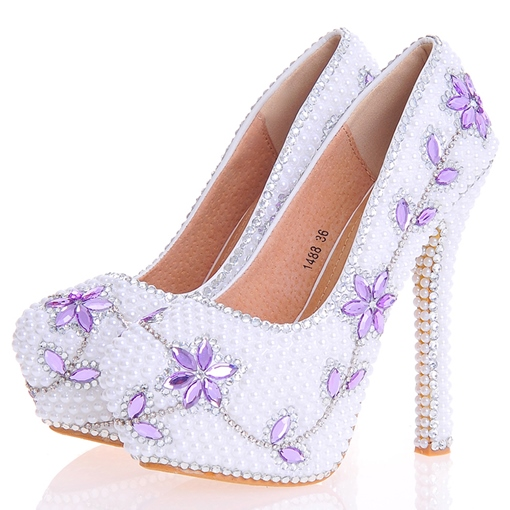 Ericdress Chic Beads Ultra-High Heel Wedding Shoes