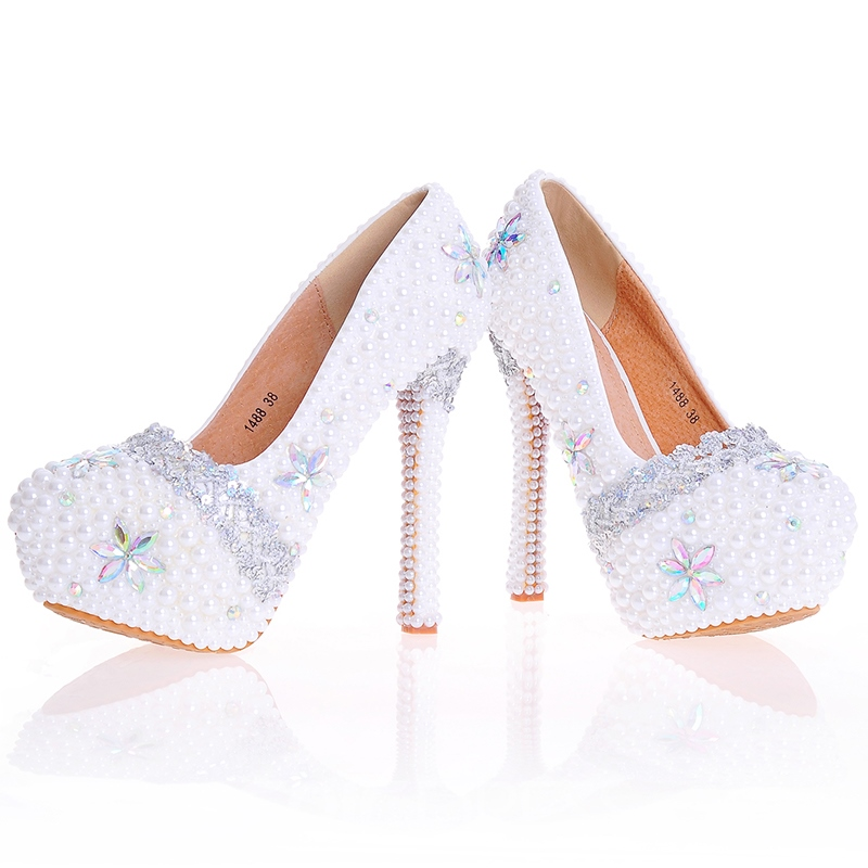 Ericdress Delicate Beads Ultra-High Heel Wedding Shoes