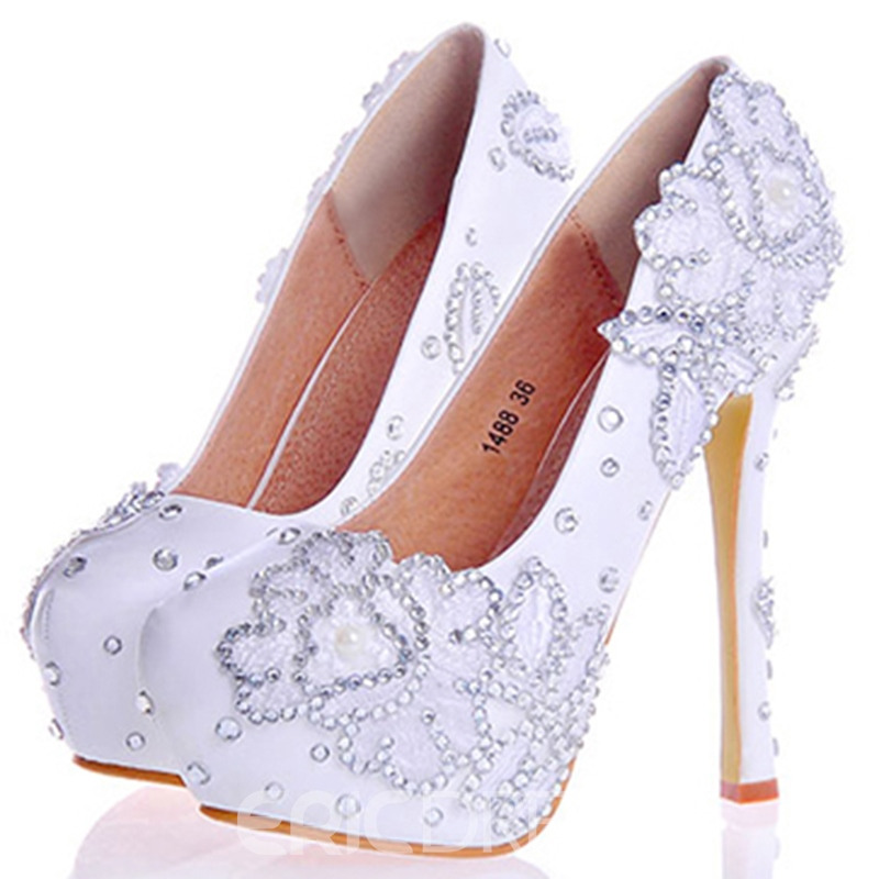 47f32b9a6 Ericdress Rhinestone Ultra-High Platform Wedding Shoes 12724781 ...