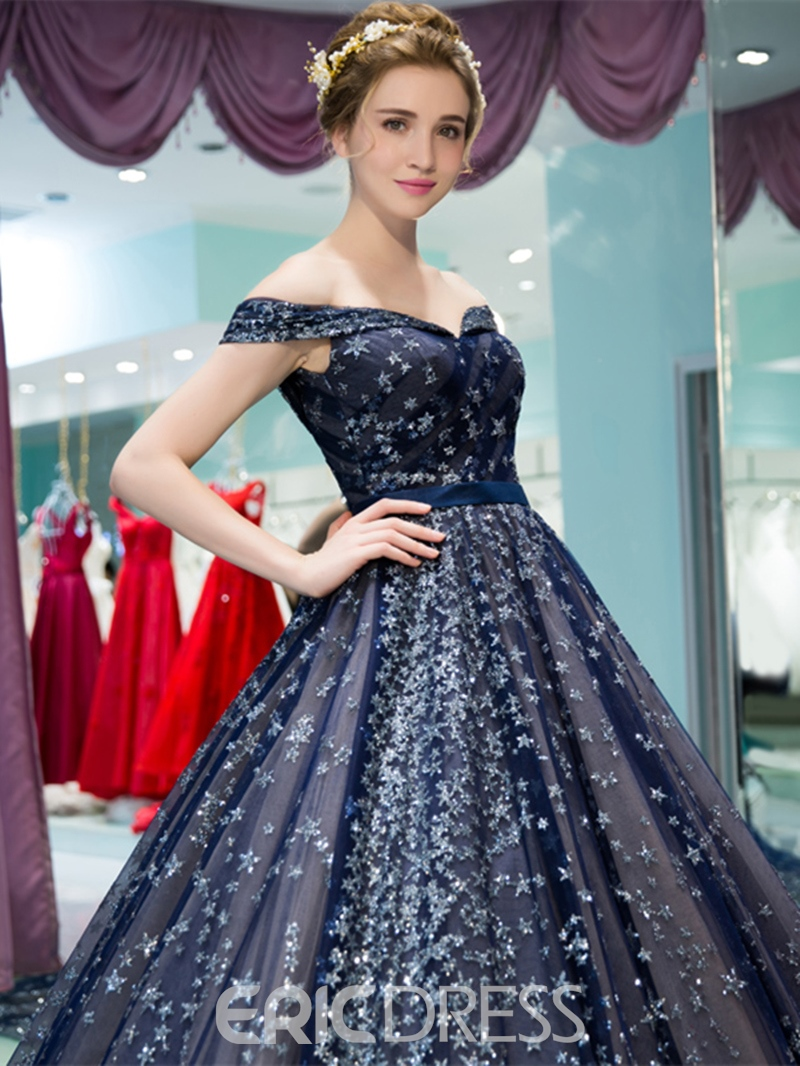 Ericdress Fairy Off The Shoulder Quinceanera Dress With Lace-Up Back