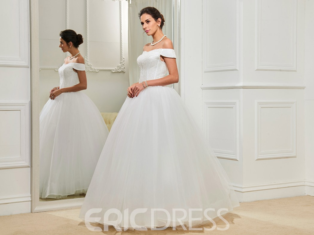 Ericdress Gorgeous Off The Shoulder Ball Gown Wedding Dress