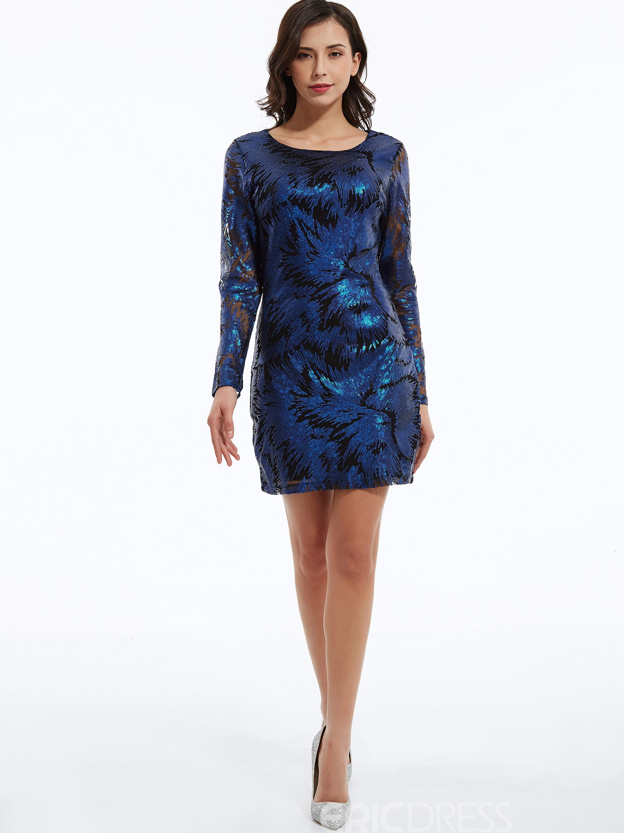 Ericdress Round Neck Sequins Bodycon Dress
