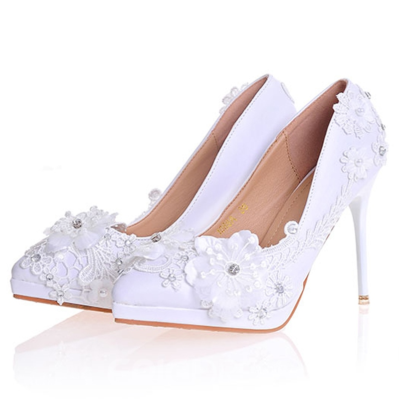Ericdress Appliques Pointed Toe Wedding Shoes
