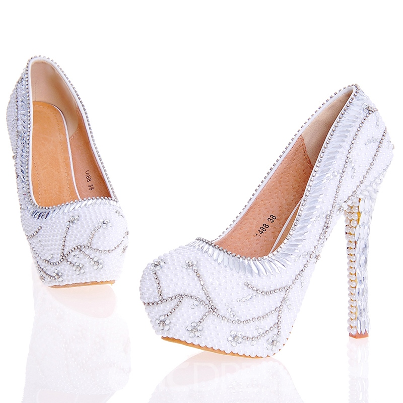 Ericdress Classic Rhinestone Ultra-High Heel Wedding Shoes