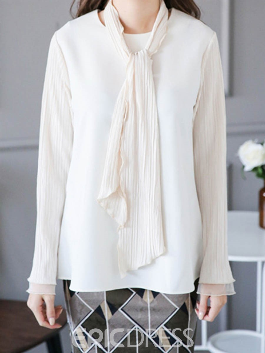 Ericdress Sweet Lace-Up Blouse