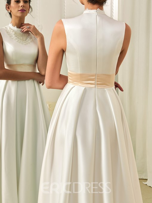 Ericdress Vintage High Neck A Line Wedding Dress