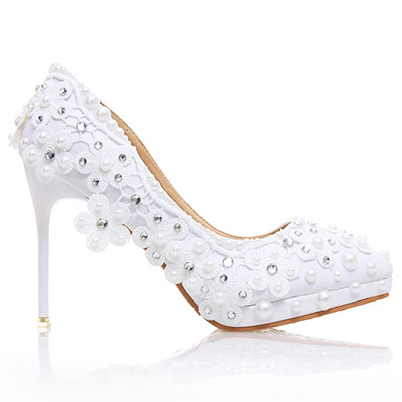 Ericdress Rhinestone Stiletto Heel Wedding Shoes