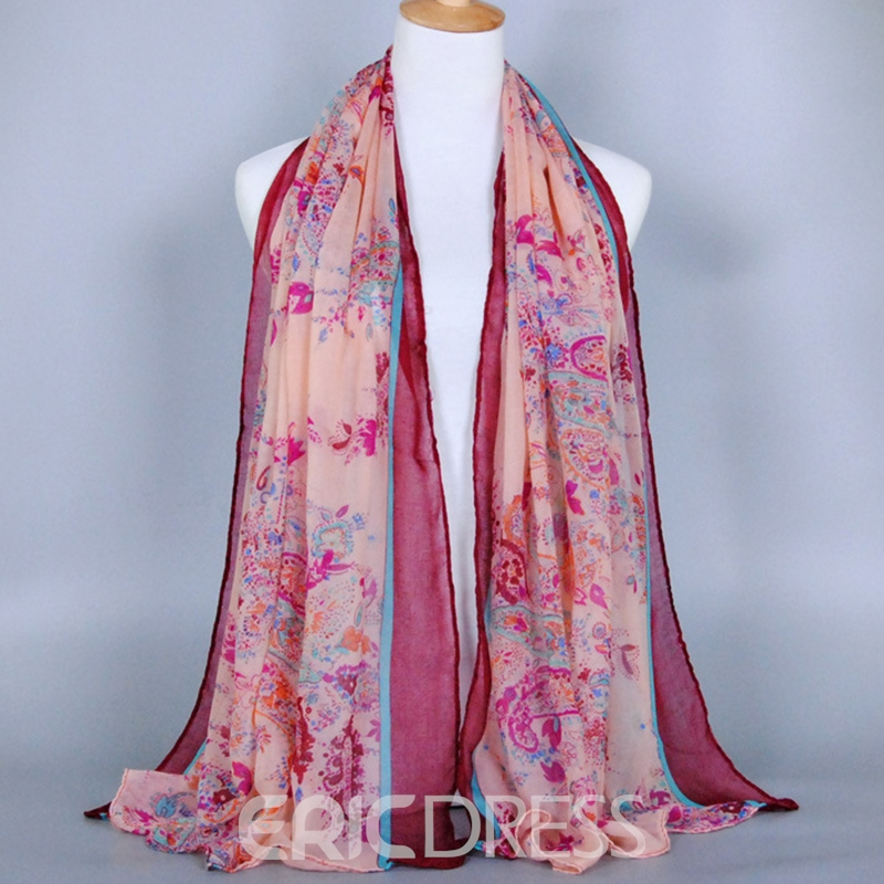 Ericdress Paisley Printed Voile Retro Scarf