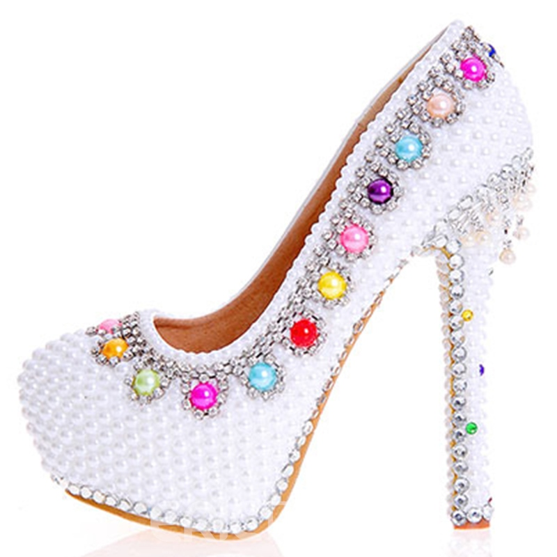 Ericdress Beads Ultra-High Heel Wedding Shoes