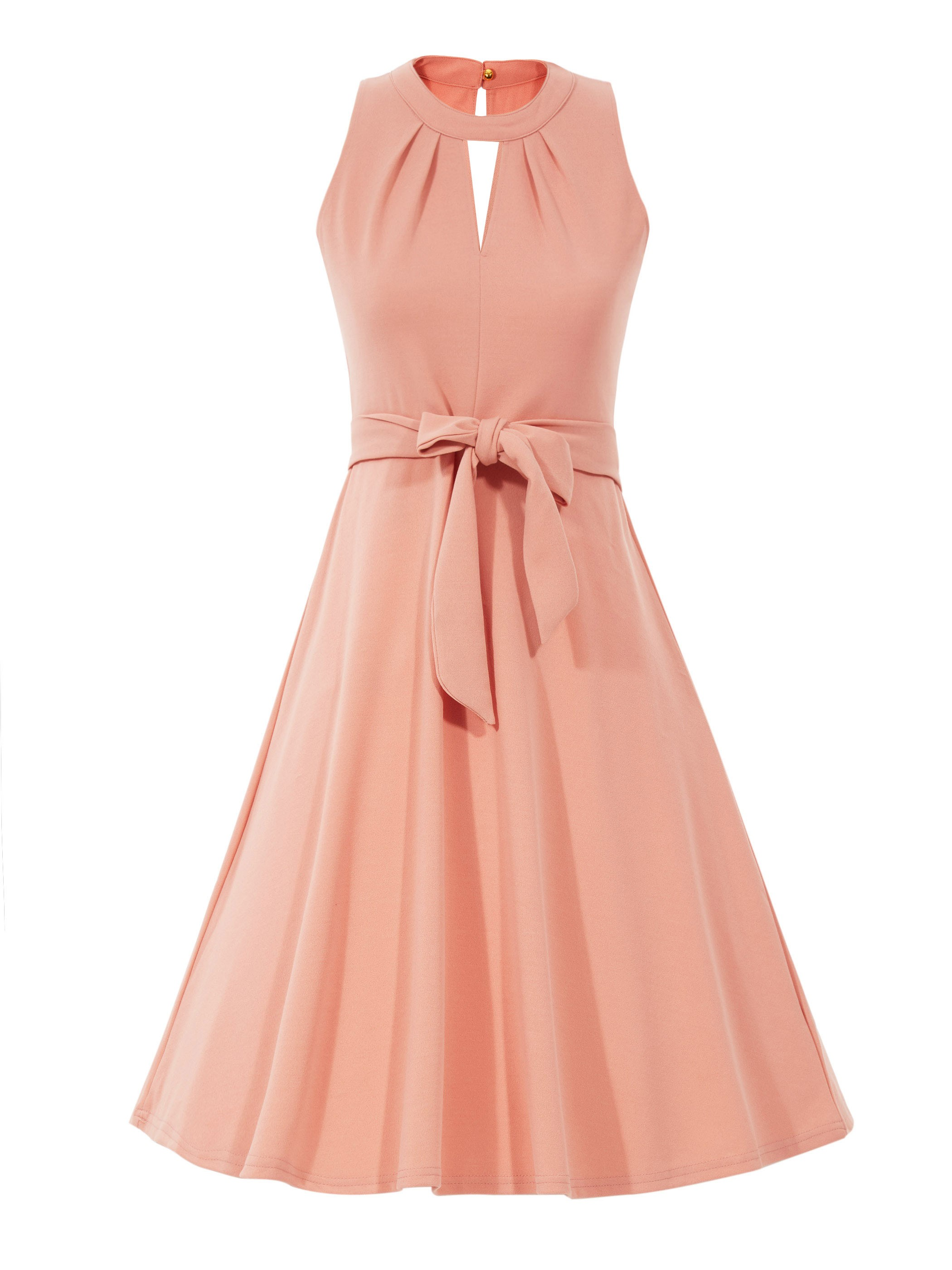 Ericdress Round Neck Hollow A-Line Maxi Dress