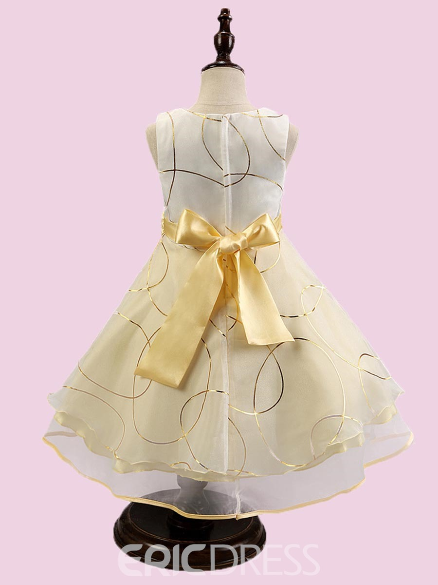 Ericdress Big Bow Sleeveless Princess Girls Dress