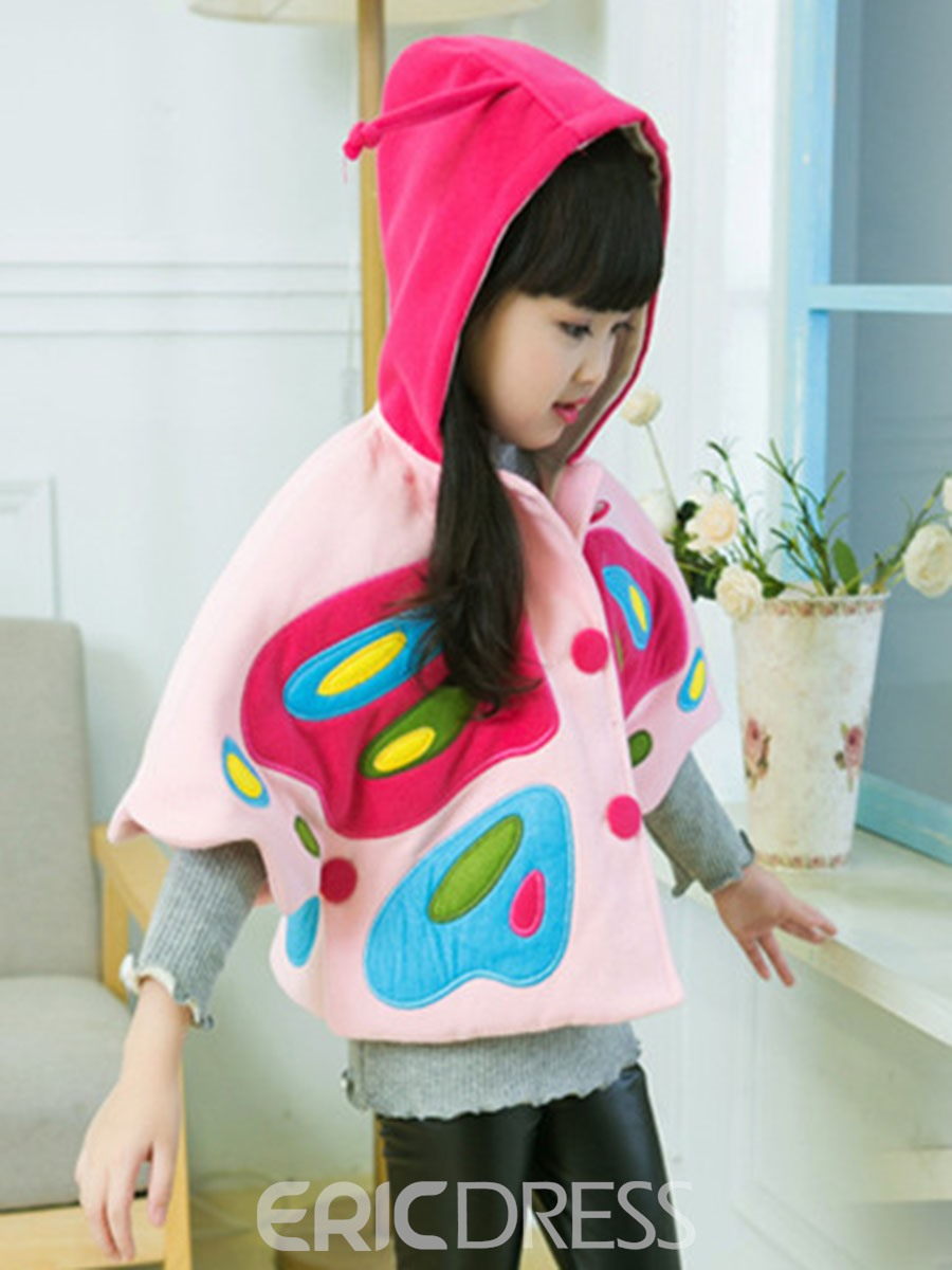 Ericdress Butterfly Printed Batwing Hooded Outerwear