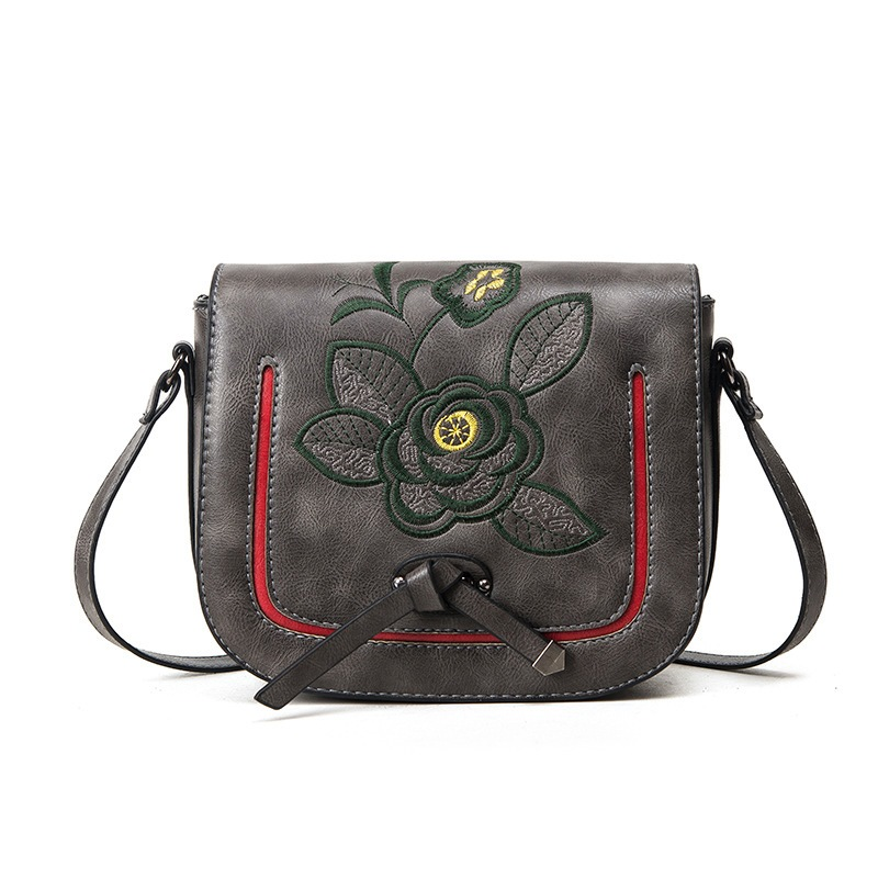 Ericdress Ethnic Floral Embroidery Crossbody Bag