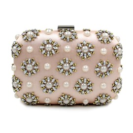 Ericdress Diamante Pearl Banquet Evening Clutch