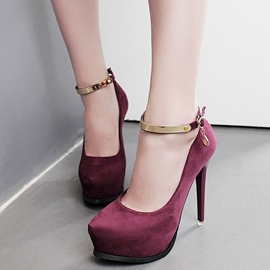 Ericdress Suede Platform Round Toe Prom Shoes