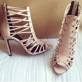 Ericdress Classic Nude Braided Cage Sandals