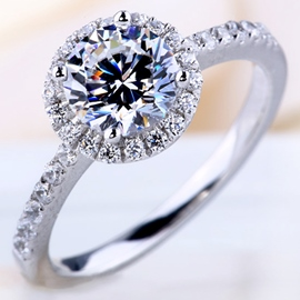 Ericdress Charming High Imitation Diamond Wedding Ring