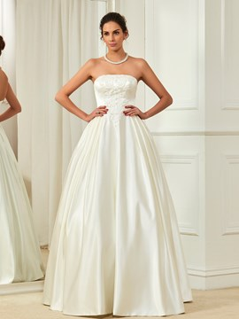 Ericdress High Quality Beaded Strapless A Line Wedding Dress