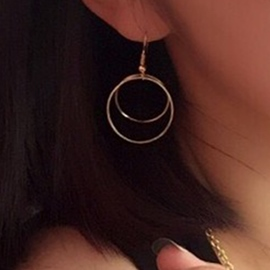 Ericdress Concise Design Circle Earring for Women