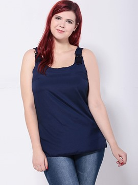 Ericdress Plus Size Casual Plain Vest