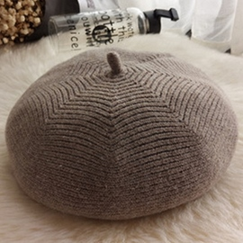 Ericdress Pure Color Simple Knitted Beret Hat