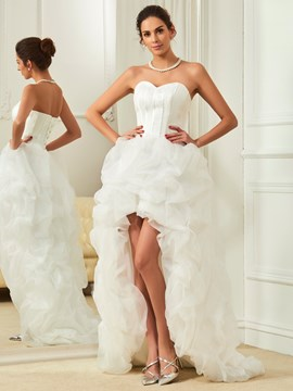 cacd8a994124 Ericdress Beautiful Sweetheart Asymmetry Summer Beach Wedding Dress