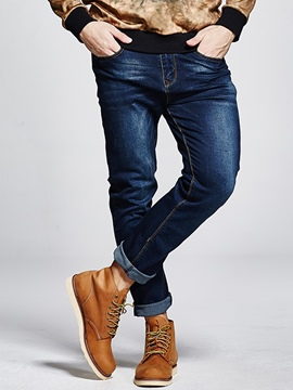 Ericdress Plus Size Straight Denim Casual Men's Jeans
