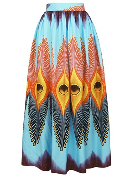 Ericdress Print Expansion Floor-Length Women's Skirt