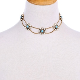 Ericdress Pearl Inlaid Alloy Chain Necklace