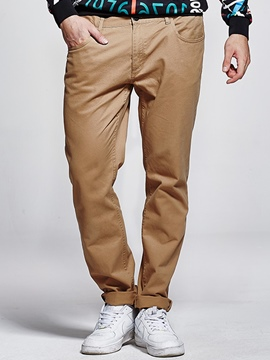 Ericdress Solid Color Plus Size Casual Men's Pants