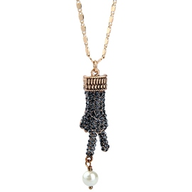 Ericdress Alloy Diamante Palm Golden Chain Necklace