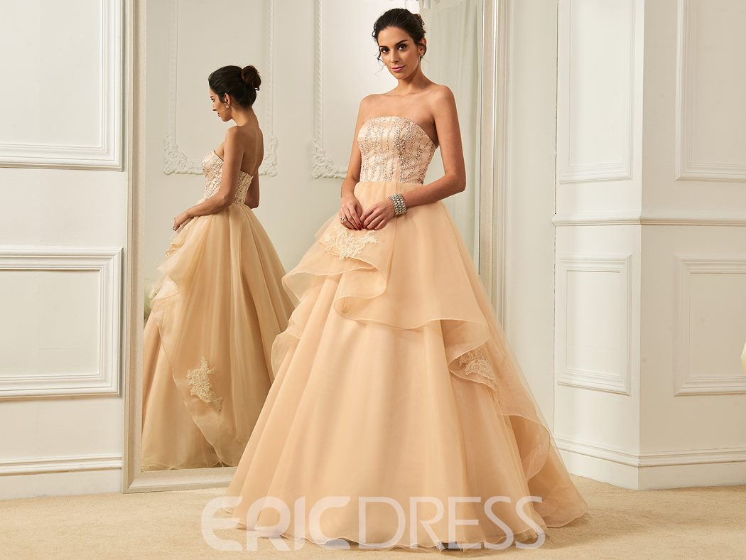 Ericdress Strapless Ball Gown Wedding Dress