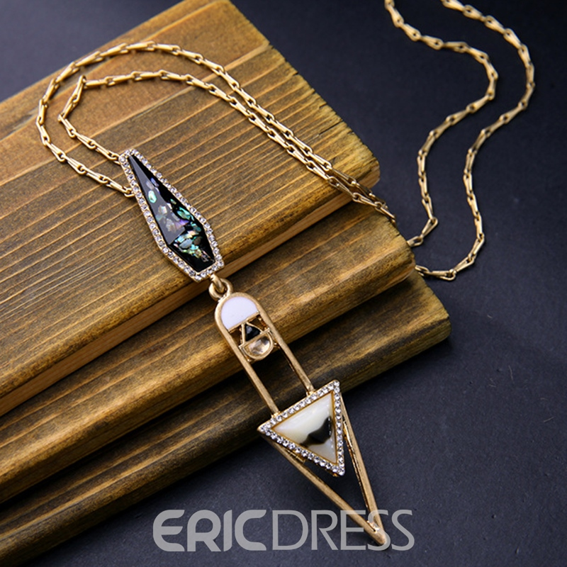 Ericdress Simple Triangle Alloy Pendant Necklace