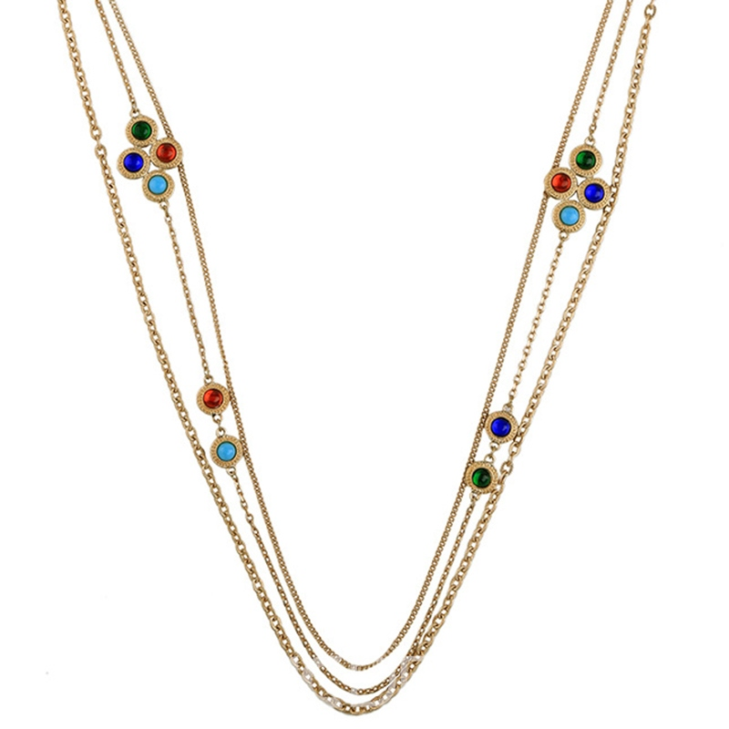 Ericdress Multilayer Rhinestone Inlaid Alloy Necklace