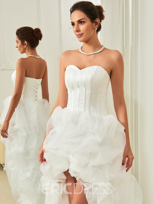 Ericdress Sweetheart Pick-Ups High Low Beach Wedding Dress