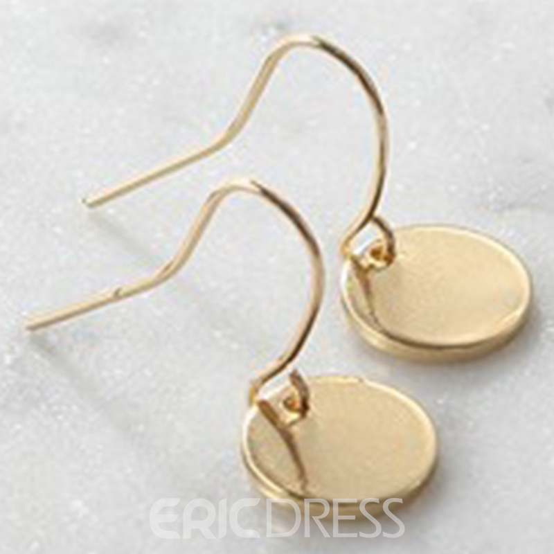 Ericdress Metal Round Sequins Pendant Earrings